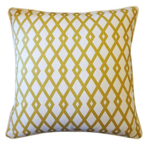 Mod Print Cotton Throw Pillow