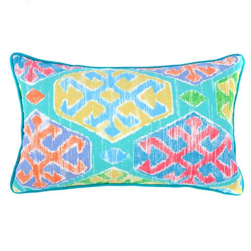 Crayon Print Outdoor Lumbar Pillow