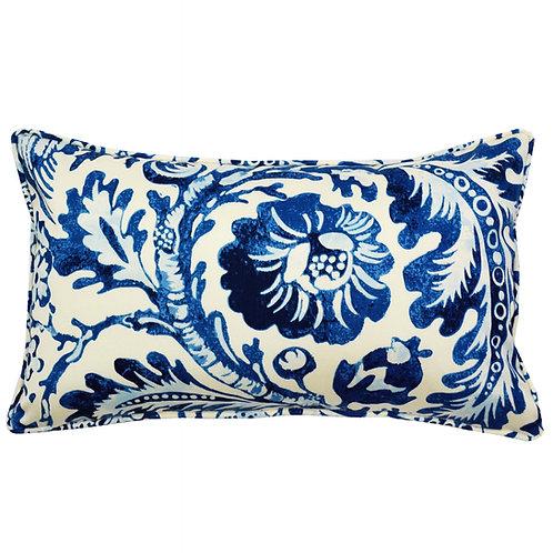 Peacock Print Outdoor Lumbar Pillow