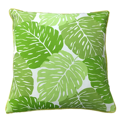 Leaves Print Outdoor Throw Pillow