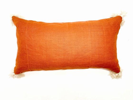 Venice Orange Lumbar White Tassels