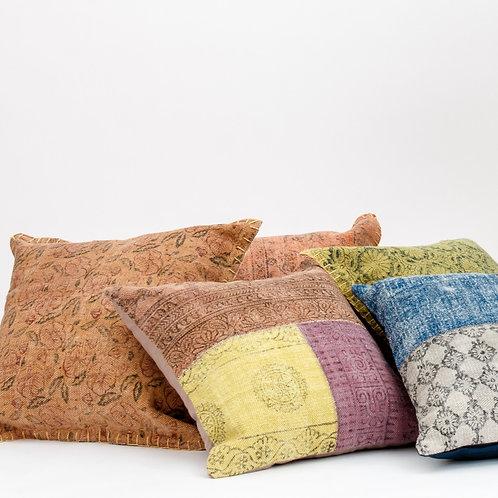 Nashik Linen Throw Pillow
