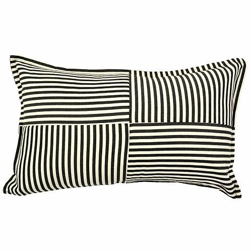 Large Checkered Outdoor Lumbar Pillow