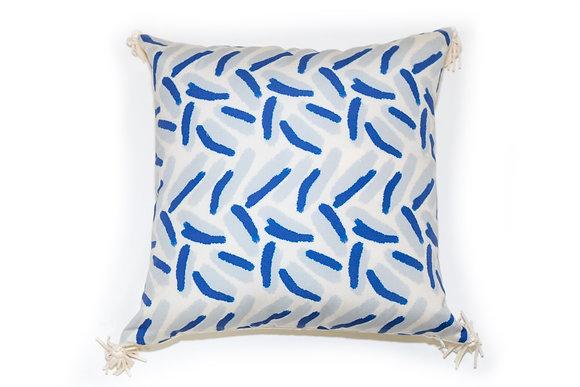 Confetti Blue Outdoor Pillow