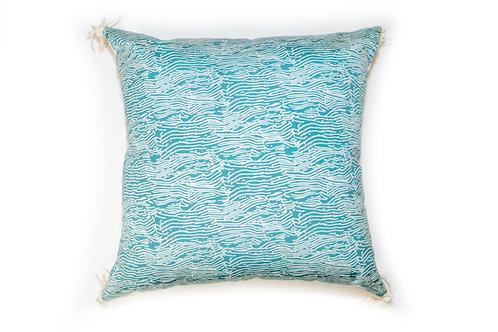 Blue Wave Outdoor Pillow