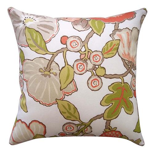 Floral Print Outdoor Throw Pillow