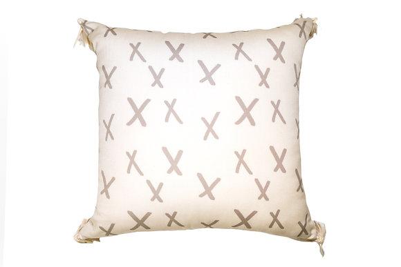 Cream Xoxo Outdoor Pillow