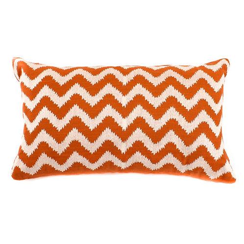 Zig Zag Tufted Cotton Lumbar Pillow