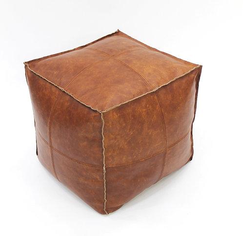 Leather Cigar Pouf