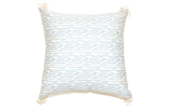 Blue Fern Outdoor Pillow