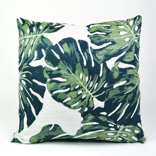 Monstera Jacquard Throw Pillow