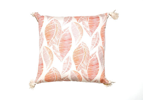 Orange Leaf Stamp Outdoor Pillow