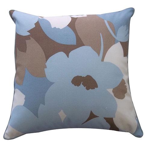 Flower Print Outdoor Throw Pillow