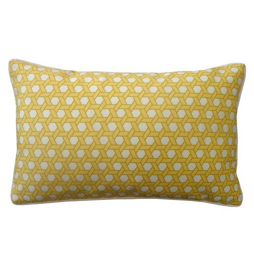 Bamboo Print Outdoor Lumbar Pillow