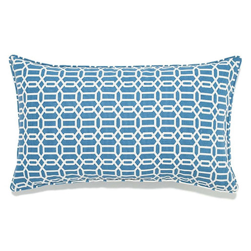 Mosaic Print Outdoor Lumbar Pillow
