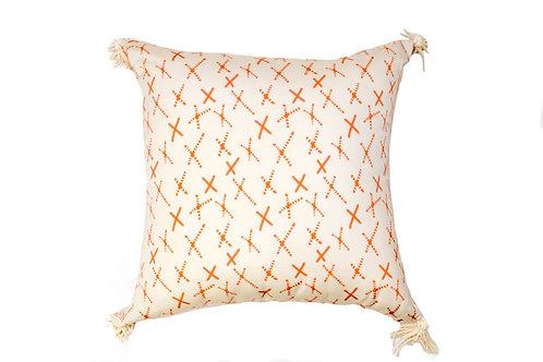 Orange Xoxo Outdoor Pillow