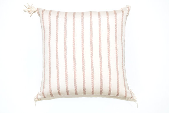 Nude Stripe Texture Outdoor Pillow