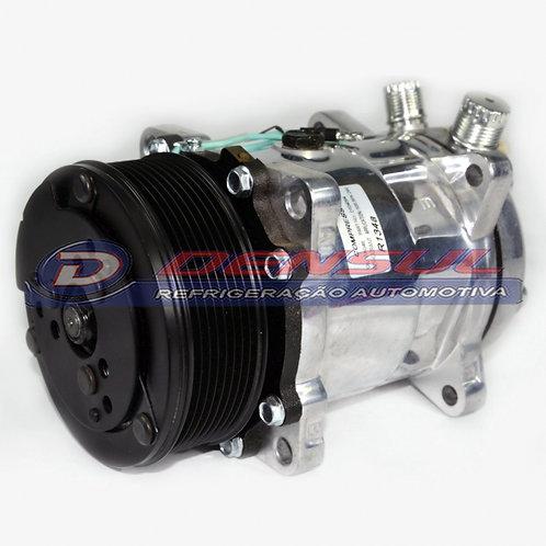 Compressor 5H14 Polia 8pk 24v New Holland