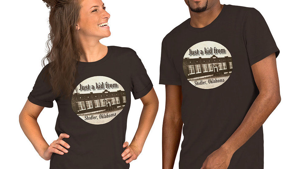 Just a Kid from Shidler, OK Sepia Tee