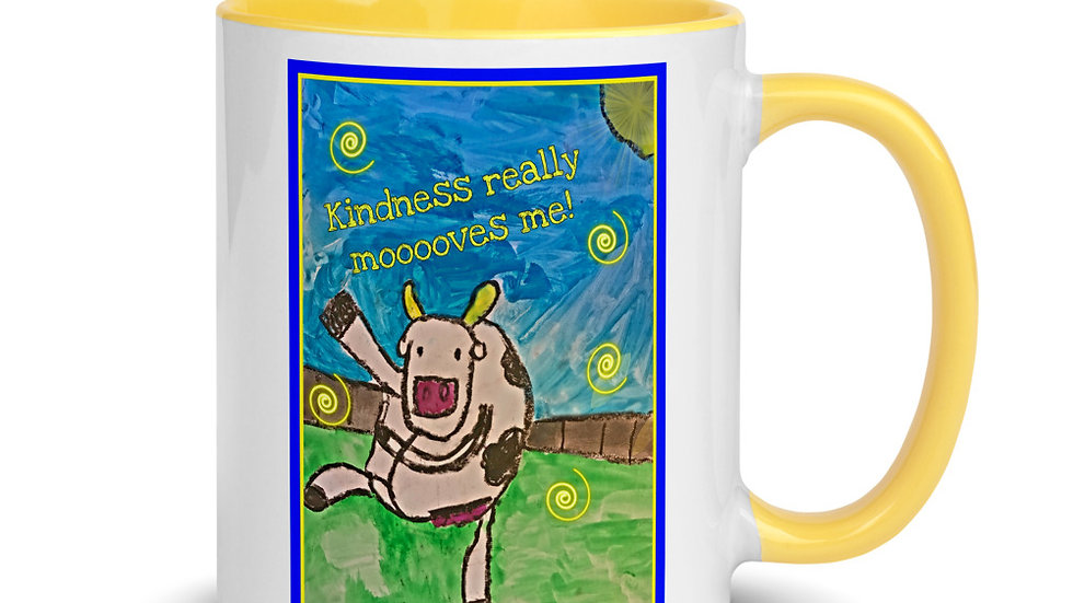 Kindness Mooves Me Dancing Cow Mug