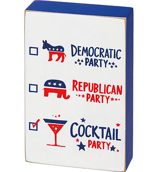 Cocktail Party Block Sign