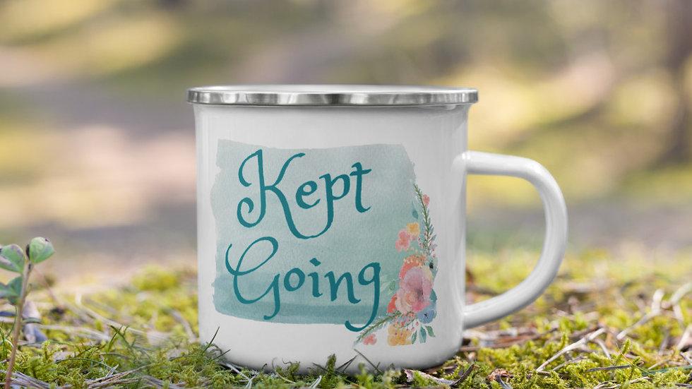 Kept Going Enamel Mug