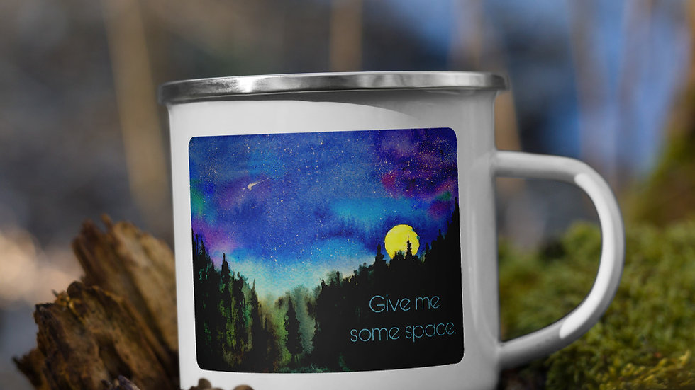 Give Me Space Enamel Mug