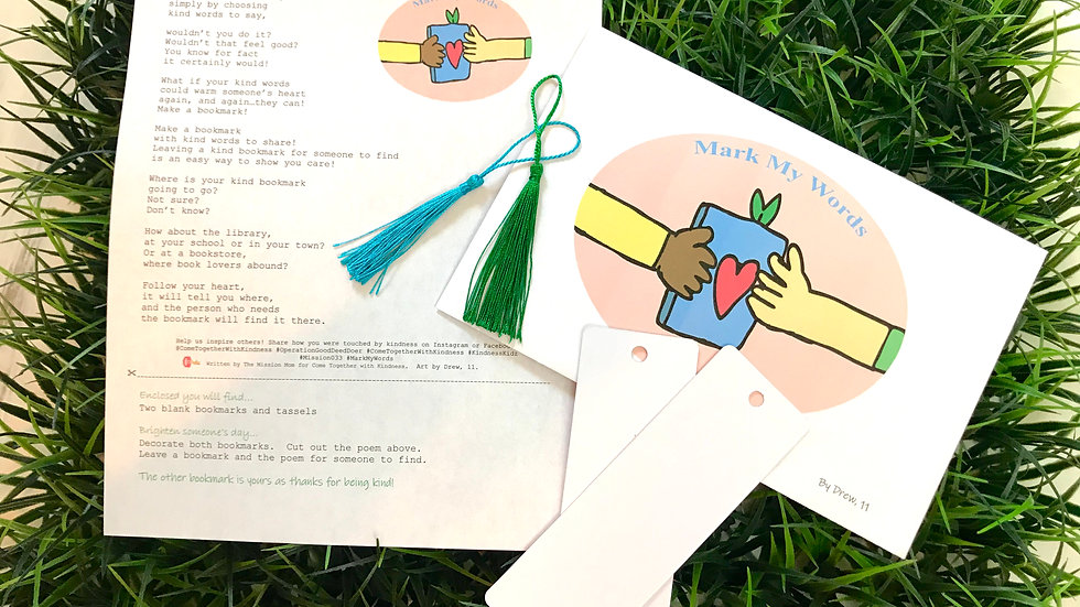 Mark My Words Bookmark Kindness Kit