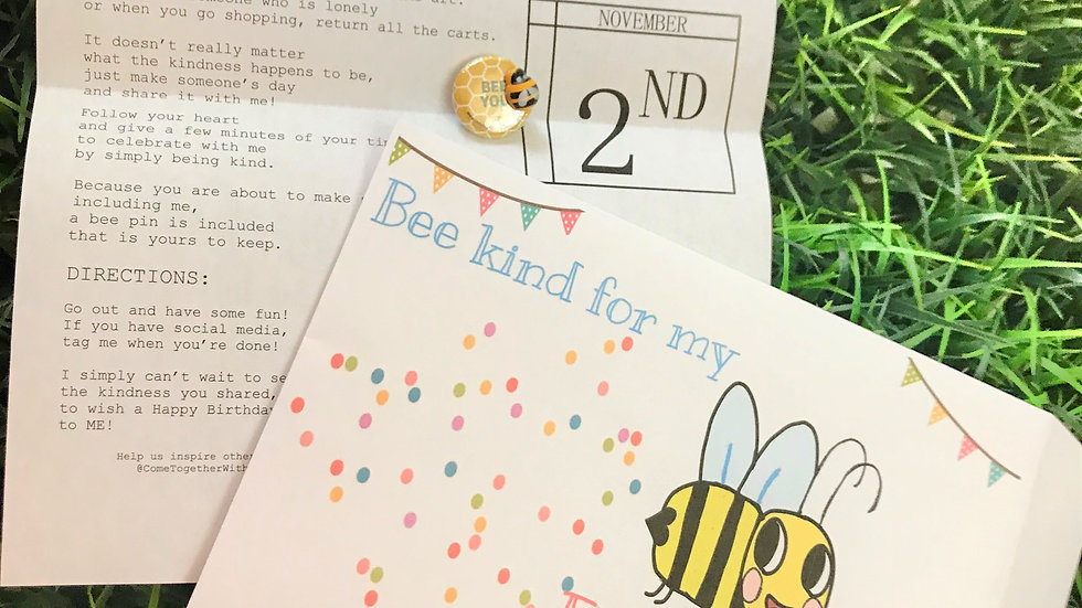 Happy Birthday to Me! Kindness Kits