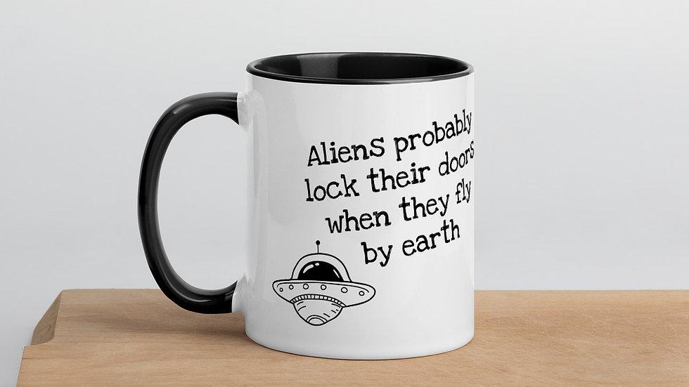 Aliens Lock Their Doors Mug