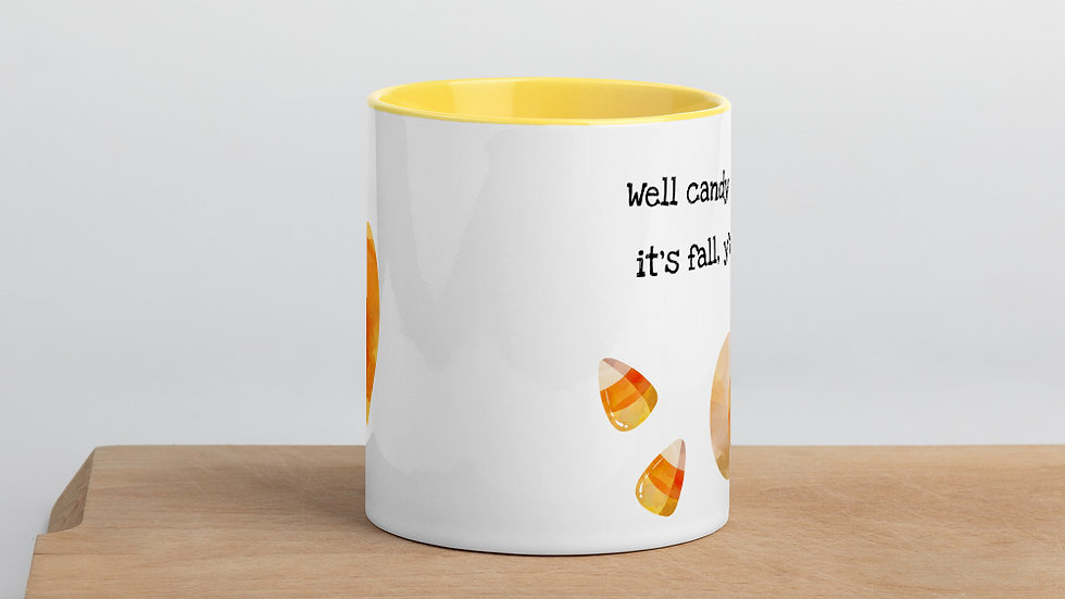 Candy Corn Fall Mug 11 oz