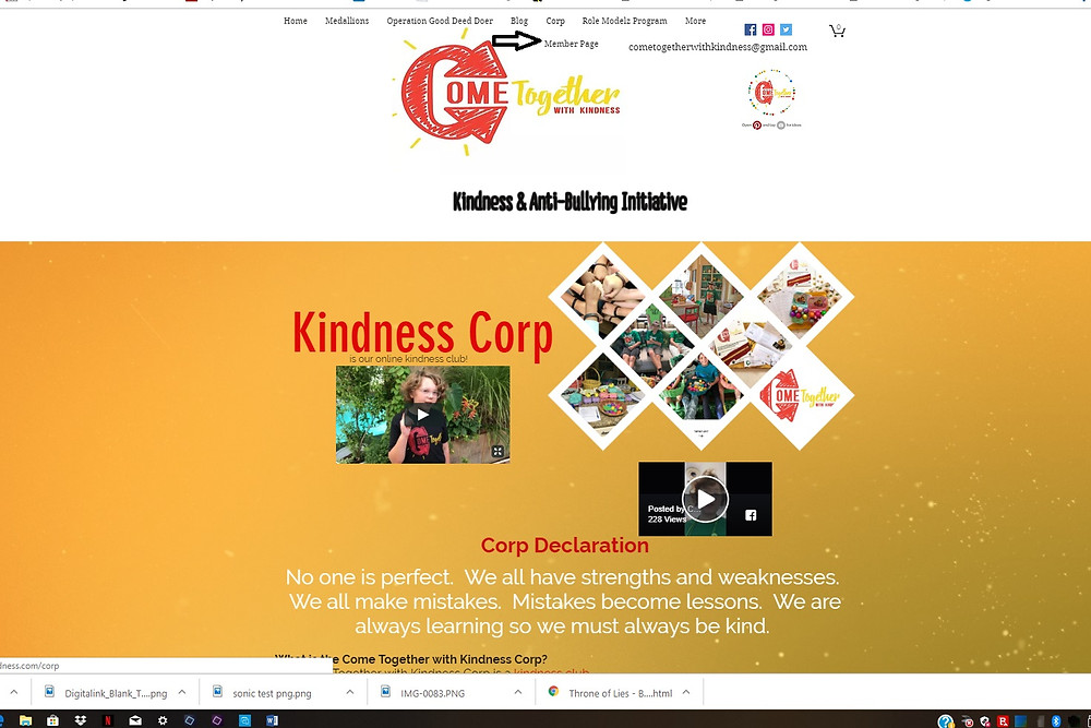 Kindness Corp Page