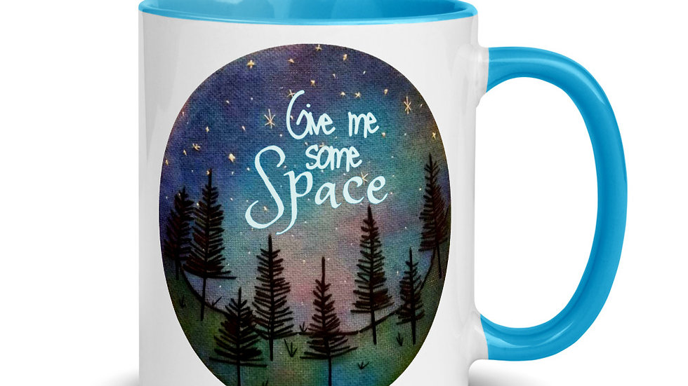 Give Me Some Space Colored Mug