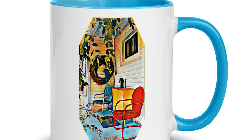 Sit with Me Front Porch Mug
