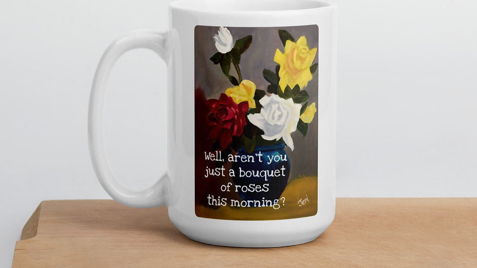 Bouquet of Roses 15 oz Mug