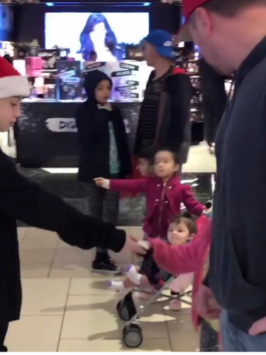 Mitchell spreading kindness at the mall