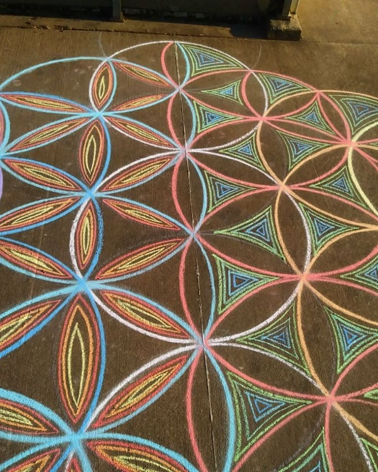 Chalk Art in Longview, Texas