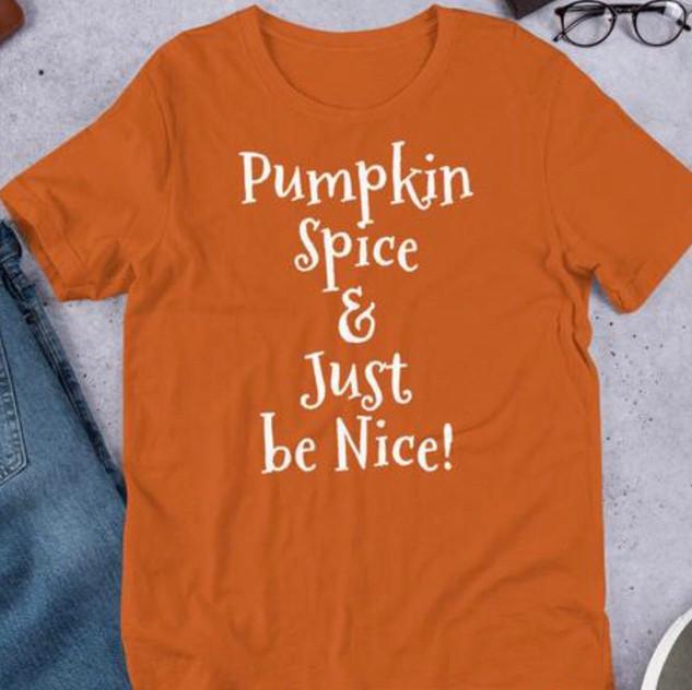 pumpkin spice orange tee
