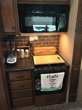 Microwave, oven, stove, blender