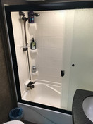 Full sizer shower and tub