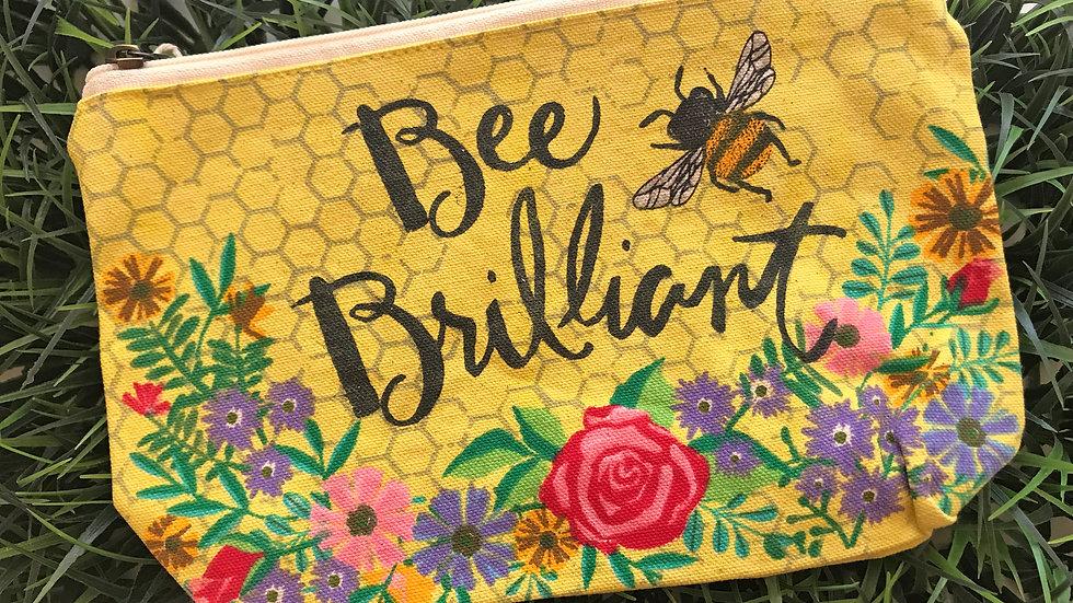Bee Brilliant Zippered Bag