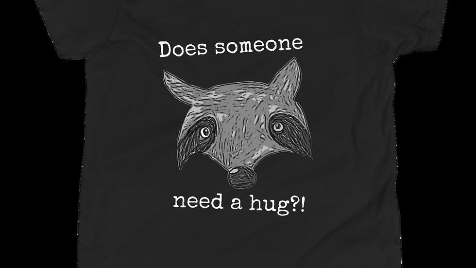 Youth Need a Hug Raccoon Tee
