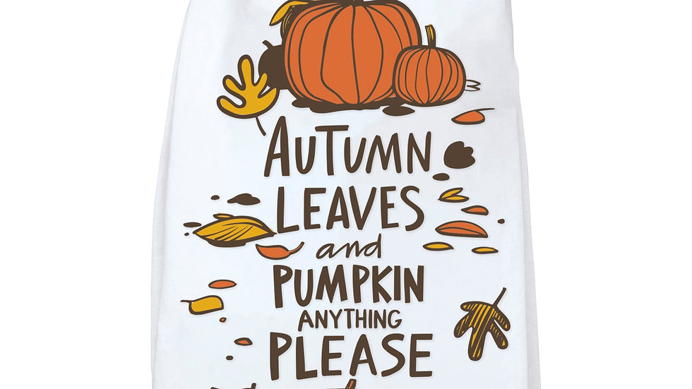 Autumn Leaves & Pumpkins Please Towel