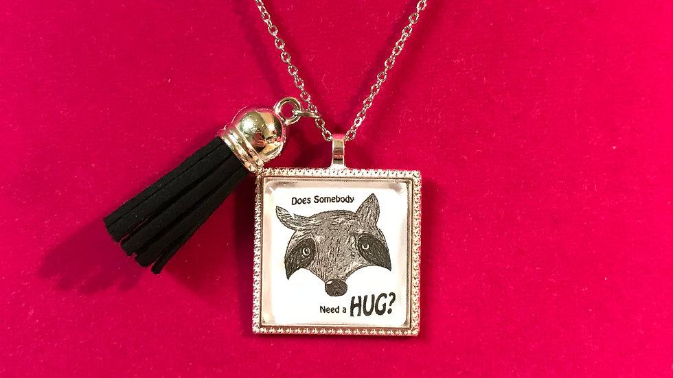 Raccoon Hug Necklace