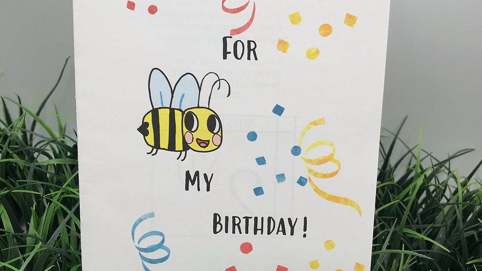 Bee Kind on My Birthday Kits