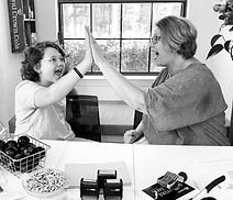 Drew and Mom High FiveBW.jpg