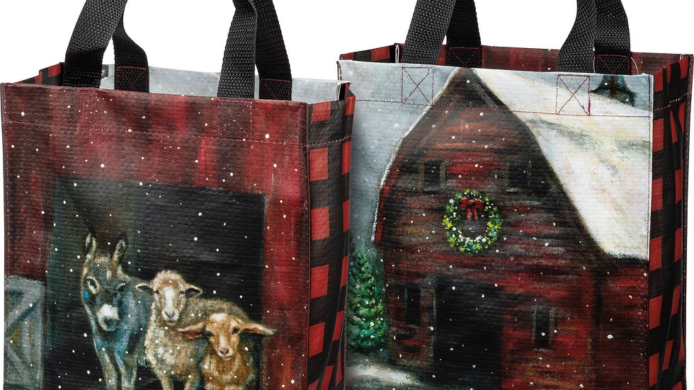Winter Farm Family Tote