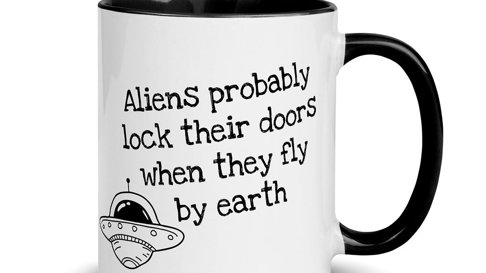 Aliens Lock Their Doors Mug
