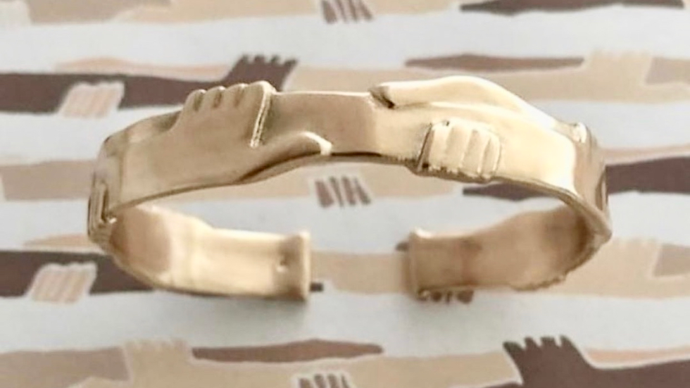 One Human Family Cuff- Brass