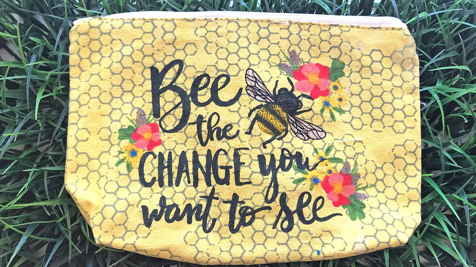 Bee the Change You Want to See Zippered Bag